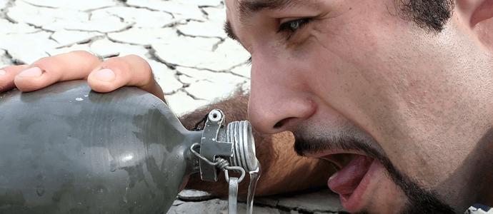 Troškulys išgerti vandens